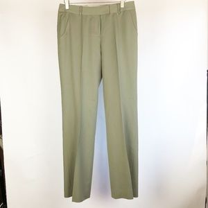 Anne Klein Women's Size 4 Green Wool Blend Pants